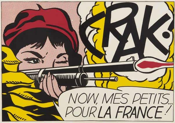 Roy Lichtenstein Crack - Ashcroft Art