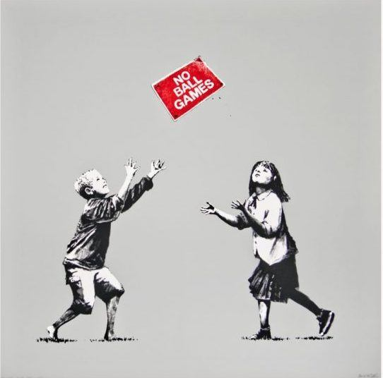 Banksy - No Ball Games - Ashcroft Art